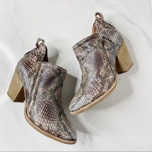 Jeffery Campbell Snake Ankle Booties Boots 5.5